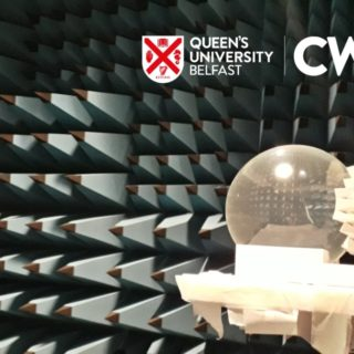 Lens Beamformer in AC with QUB CWI Logo White